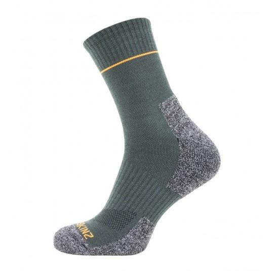 SealSkinz Solo Quickdry Ankle Length Non Waterproof Socks Green/Grey/Orange