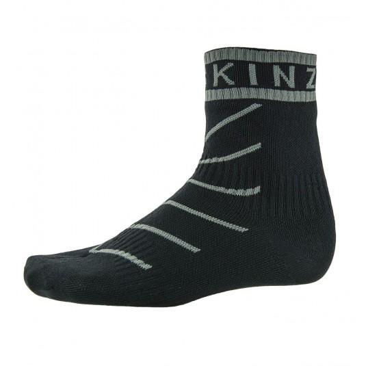 SealSkinz Super Thin Pro Ankle Waterproof Socks with Hydrostop Black/Grey