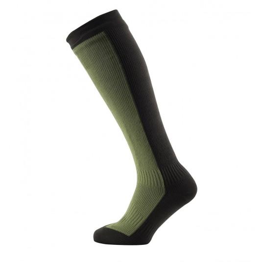 SealSkinz Hiking Mid Knee Waterproof Socks Olive Green/Green