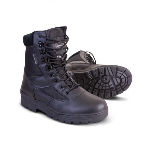 Kombat UK Half Leather Patrol Boot In Black