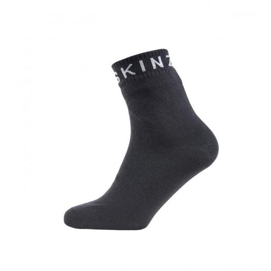 SealSkinz Super Thin Ankle Waterproof Socks Black/Grey