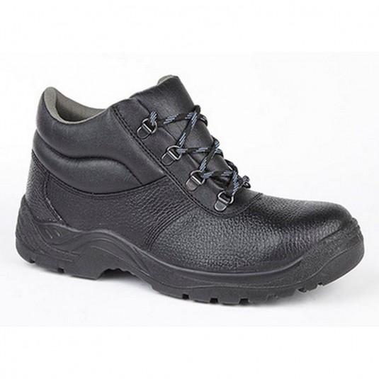 Chukka Safety Work Boots Leather Steel Toe Cap & Midsole