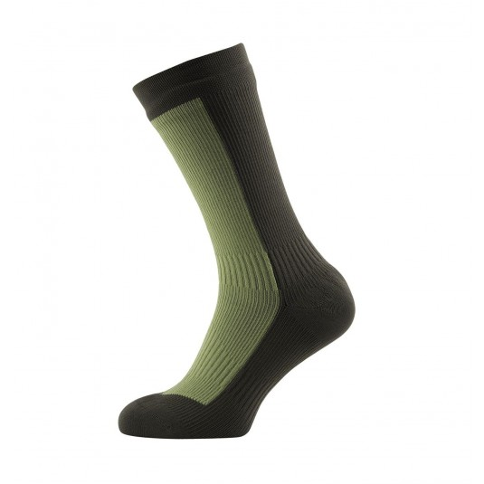 SealSkinz Hiking Mid Mid Waterproof Socks Olive Green/Green