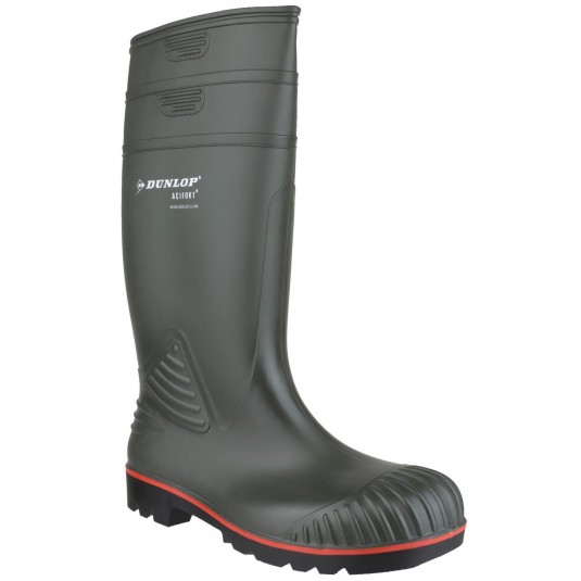 Dunlop Acifort Heavy Duty Full Safety Wellington Green