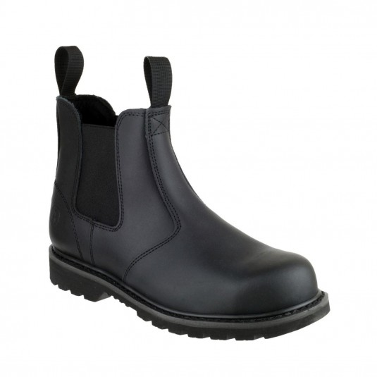 Amblers Safety FS5 Goodyear Welted Pull on Safety Dealer Boot Black