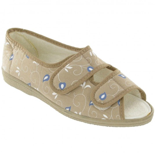 Mirak Molly Canvas Sandal Beige