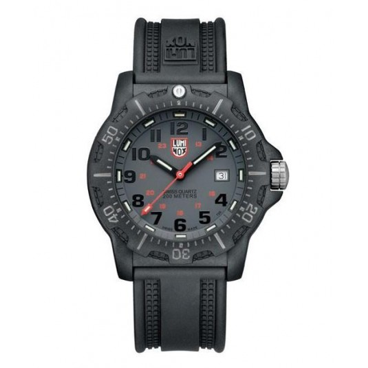 Luminox Mens 8802 Military Style Watch On Black Resin Strap