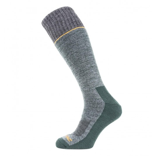 SealSkinz Solo Quickdry Knee Length Non Waterproof Socks Green/Grey/Orange