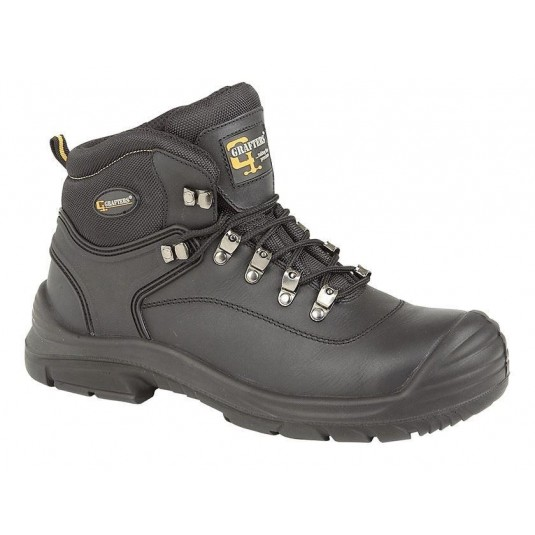 Grafters Wide Fitting Safety Boots In Black