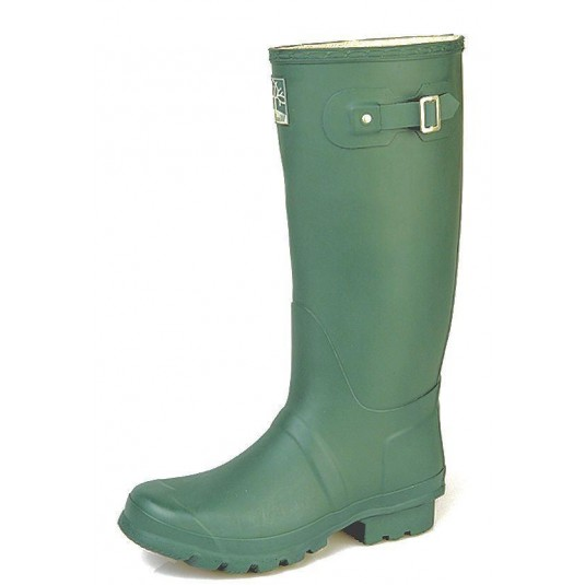 Woodland Wellingtons Wide Calf In Classic Green Boots