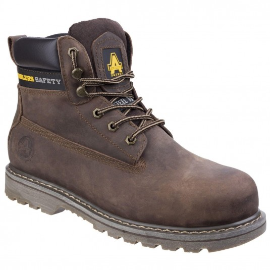 Amblers Safety FS164 Goodyear Welted Lace up Industrial Safety Boot Brown