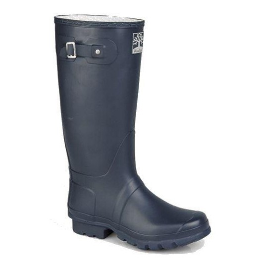 Woodland Wellingtons Wide Calf In Classic Navy Blue Boots