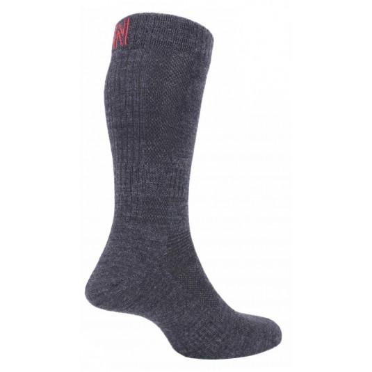 Norfolk Sheldon Merino Wool Walking Socks In Grey