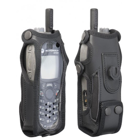 Leather Sepura Radio Case Klick Fast And Belt Attachment
