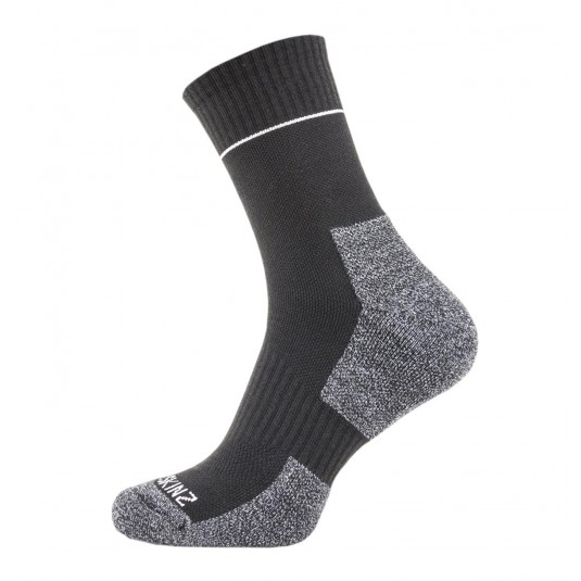 SealSkinz Solo Quickdry Ankle Length Non Waterproof Socks Black/Grey/White