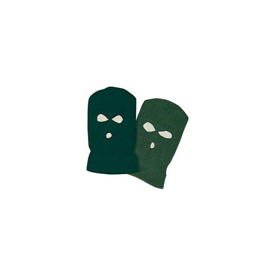 Balaclava 3-hole O/Green