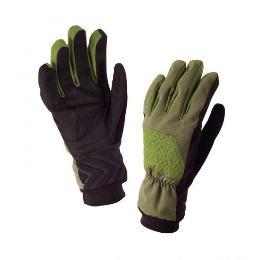 SealSkinz Helvellyn Waterproof Gloves Olive Green/Green
