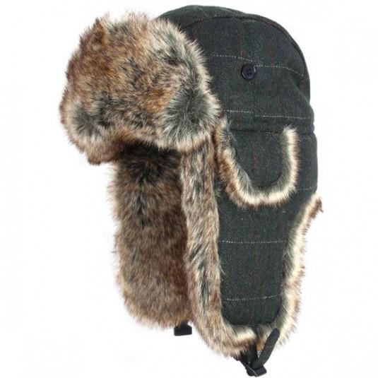 Jack Pyke Wool Blend Trapper Hat Green Check