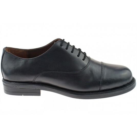 Scimitar M620A Unisex 5 Eyelet Leather Oxford Uniform Shoes Black