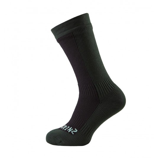 SealSkinz Hiking Mid Mid Waterproof Socks Black/Green