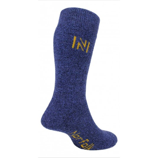 Norfolk Gabby Merino Wool and Bamboo Thermal Fully Cushioned Walking Socks In Blue