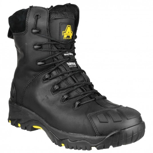 Amblers Safety FS999 Hi-Leg Composite Safety Boot With Side Zip Black