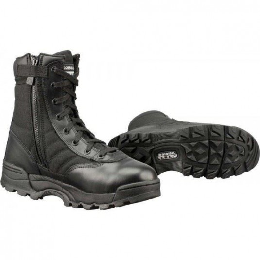 "Original SWAT Classic 9"" Tactical Side Zip Military Boots Black"