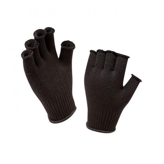 SealSkinz Fingerless Non Waterproof Merino Glove Liner Black