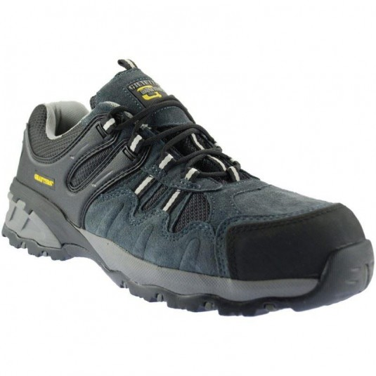 Grafters Metal Free Suede Safety Trainers In Grey/Black
