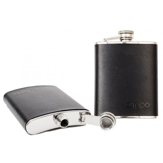 Zippo Leather Wrapped Hip Flask 177ml