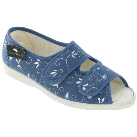 Mirak Molly Canvas Sandal Blue