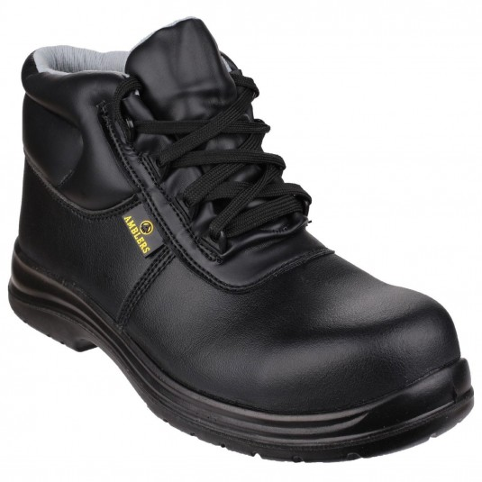 Amblers Safety FS663 Metal-Free Water-Resistant Lace up Safety Boot Black