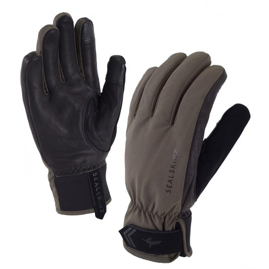 SealSkinz Womens All Season Waterproof Gloves Olive Green/Black