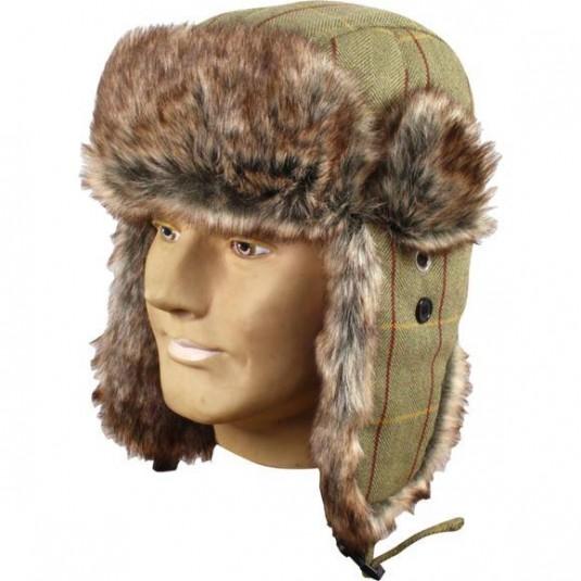 Jack Pyke Wool Blend Trapper Hat Tweed