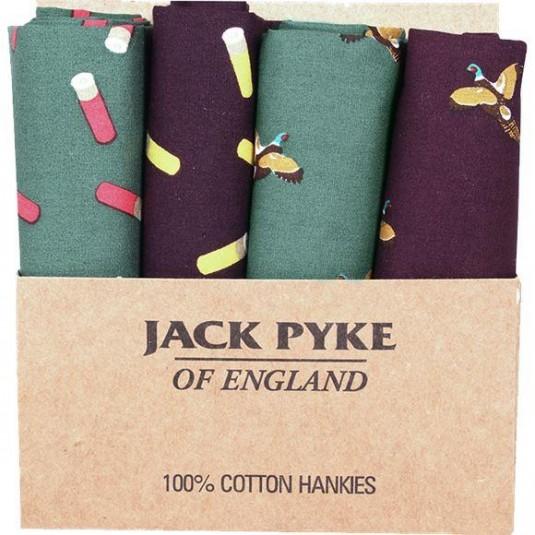 Jack Pyke Four Pack Hankies - Cartridge and Pheasant