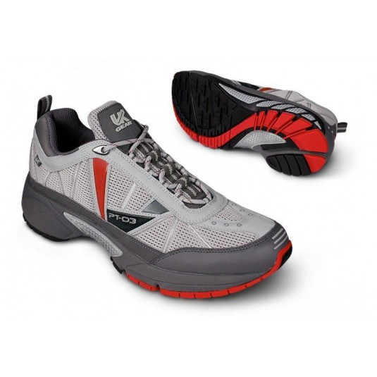UK GEAR PT-03 SC Road Trail Running Shoe British Military Edition Men's Grey/Red/Black