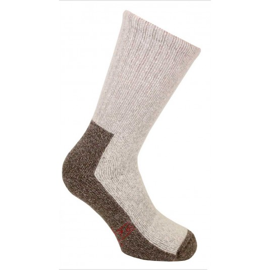 Norfolk Nasuh Fully Cushioned Thermal Hiking Socks In Brown