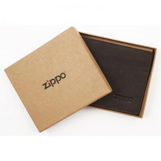 Zippo Leather Bi-Fold Wallet In Mocha