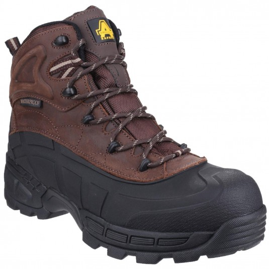 Amblers Safety FS430 Orca Lightweight Waterproof Metal-Free Lace up Safety Boot Brown