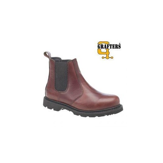 Grafters Mens Chelsea Boot In Chestnut