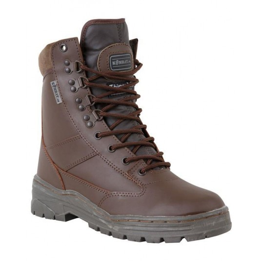 Kombat UK All Leather Patrol Boot In Brown
