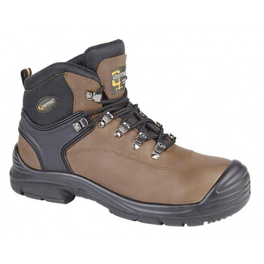 Grafters Wide Fitting Safety Boots In Brown