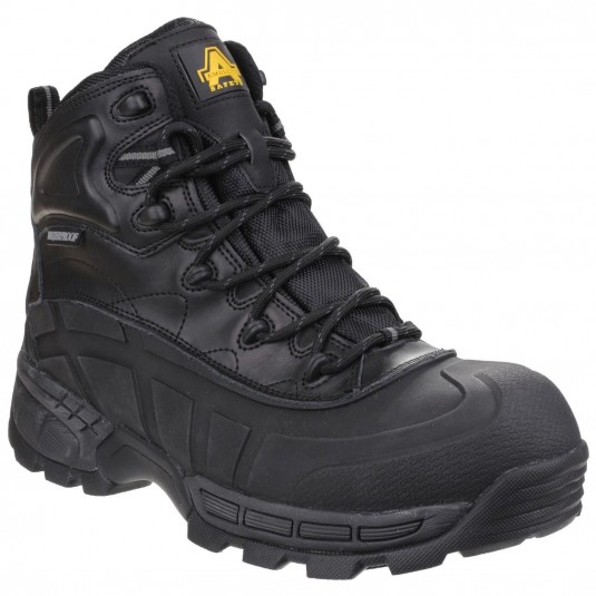 Amblers Safety FS430 Orca Lightweight Waterproof Metal-Free Lace up Safety Boot Black