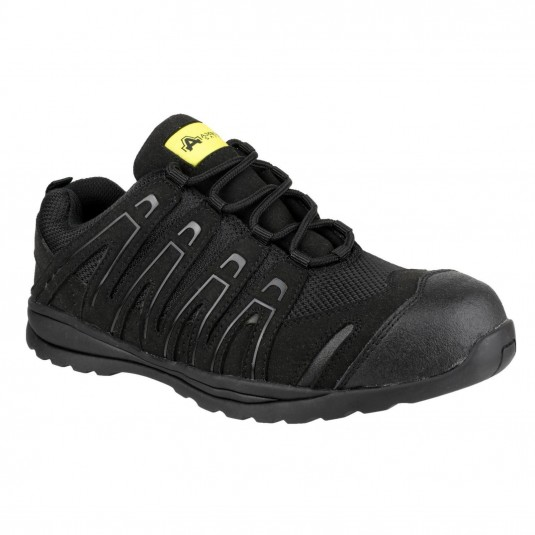 Amblers Safety FS40C Lightweight Metal Free Lace up Safety Trainer Black