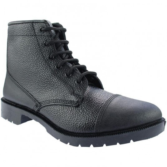 Grafters Cadet Parade Boots In Black