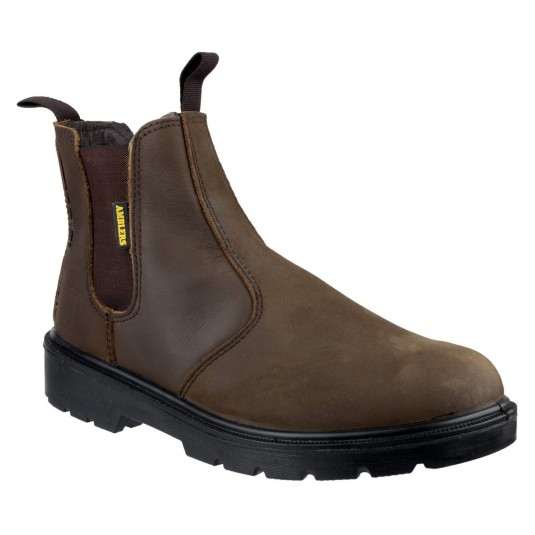 Amblers Safety FS128 Hardwearing Pull on Safety Dealer Boot Brown