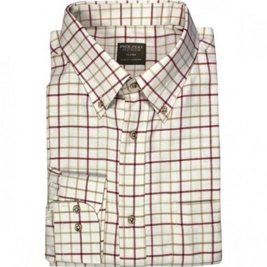 Jack Pyke Countryman Shirt - Burgundy Check