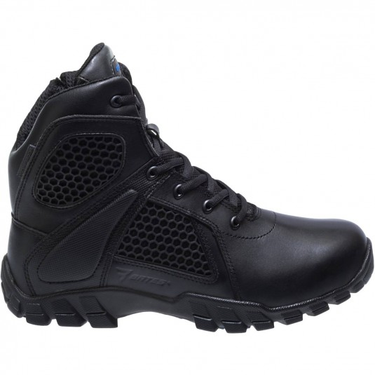 Bates 6 Inch Shock Strike Side Zip Boots In Black