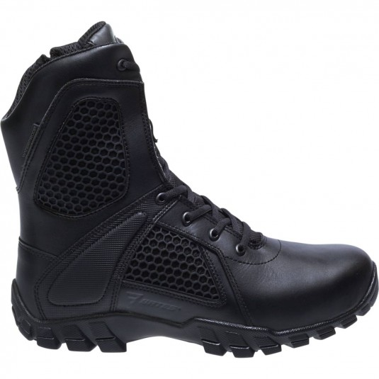 Bates 8 Inch Shock Strike Side Zip Boots In Black
