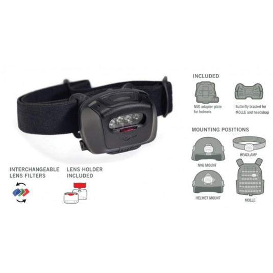 Princeton Tec EOS TAC MPLS Helmet Light Multicam